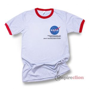 NASA Logo John F. Kennedy Space Center Ringer T-shirt