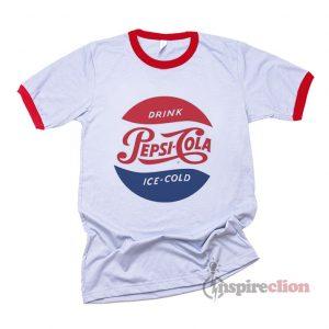 Drink Pepsi Cola Ice Cold vintage Logo Ringer T-shirt