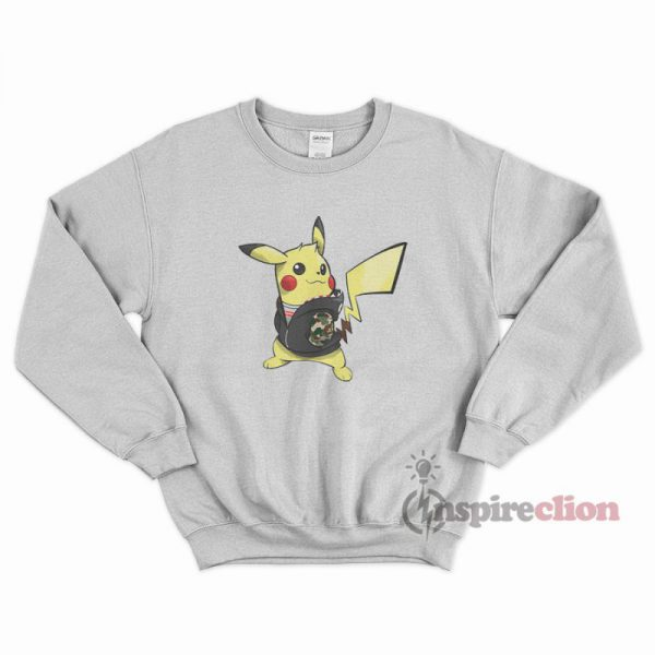 Pokemon Pikachu Hypebeast x Supreme x A Bathing Ape Sweatshirt