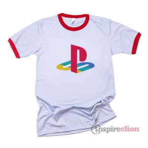 Playstation Logo Ringer T-shirt Custom