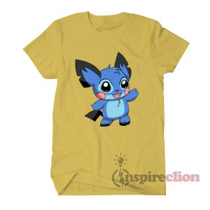Stitch Collab Pokemon Pikachu Parody T-shirt