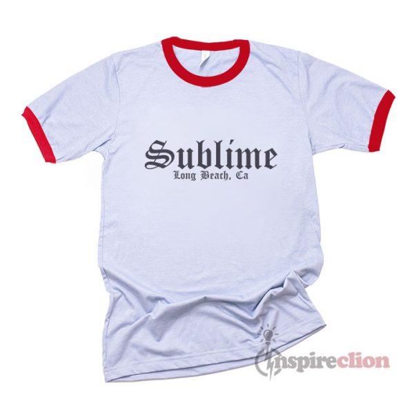 Sublime Long Beach California Ringer T-Shirt