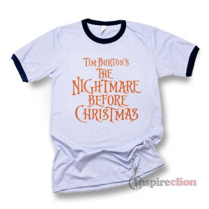 The Nightmare Before Chrstmas Logo Ringer T-Shirt Halloween