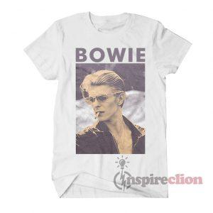 David Bowie Smoking T-shirt Classic Cotton