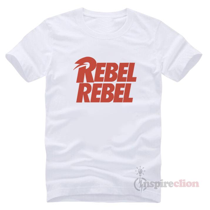 45a919924310db David Bowie Rebel Rebel e T-shirt - Inspireclion.com