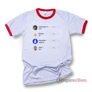 xxxtencion lilpeep macmiller avicii Instagram Why do legends die Ringer T-shirt