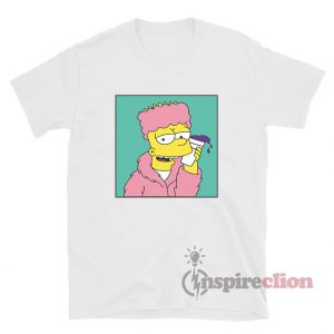 Bart On Codeine Lean Drink Pink Hip Hop Style T-Shirt