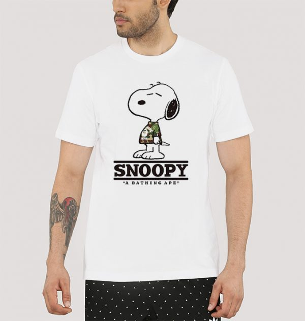BAPE x Peanuts Release Celebratory Snoopy T-Shirt Unisex