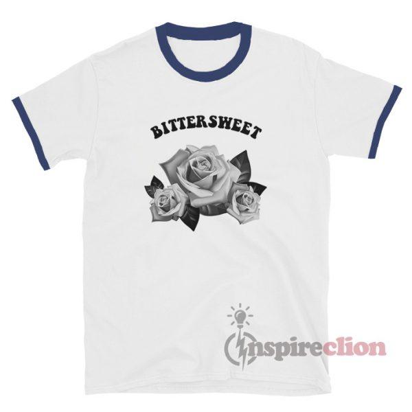 Bittersweet Flower Rose Ringer T-Shirt Unisex