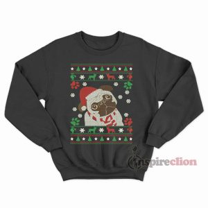 Boston Terrier Merry Woofmas Christmas Dog Gift Sweatshirt