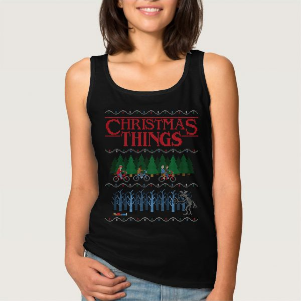 Christmas Things Stranger Things Bicycle Tank Top
