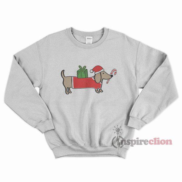 Christmas Dog Dachshund Sweatshirt