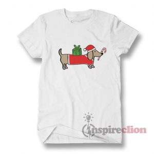 Christmas Dachshund T-Shirt Adult for Men's And Women's