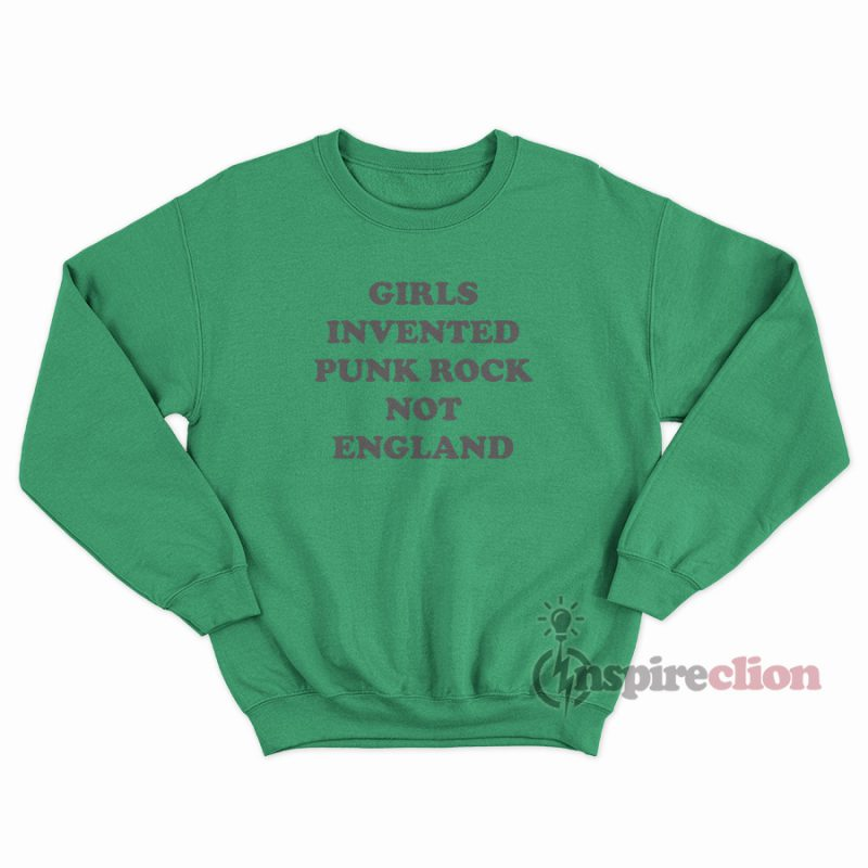 Halsey Style Tour Girls Invented Punk Rock Not England Sweatshirt