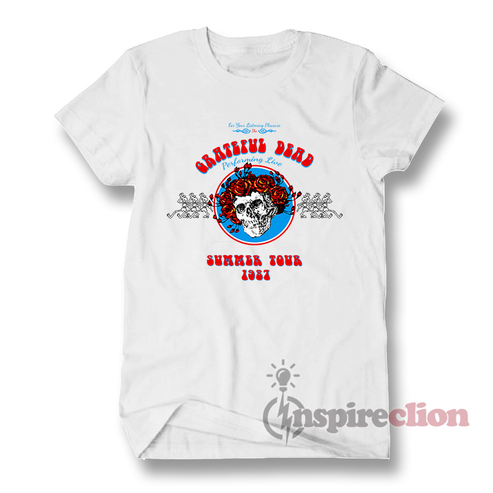 d698a1a26732 Grateful Dead Summer Tour 1987 T-Shirt Vintage 90s - Inspireclion.com
