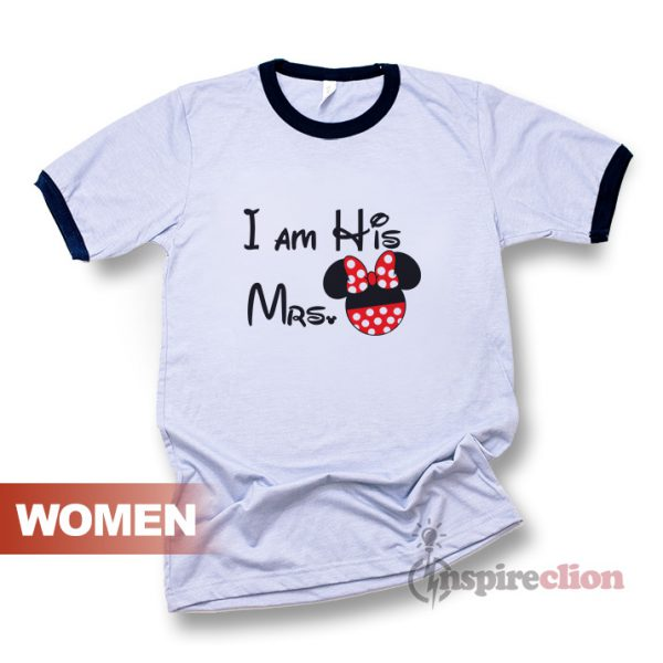 Couple Mickey And Minnie Men's Women's Ringer T-shirt Edition