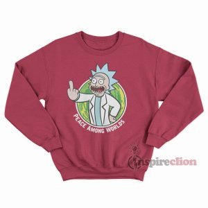 Peace Among Worlds Portal Rick And Morty Hoodie Sweatshirt