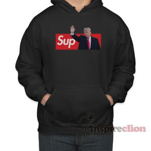 Sup Trump Supreme Leader Red Box Logo Hoodie