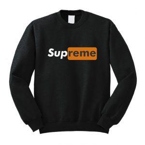Supreme PornHub Capsule Logo Sweatshirt Unisex