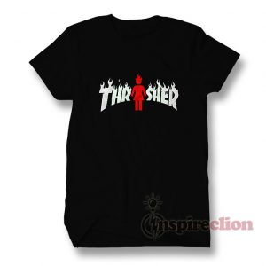 Thrasher Magazine x Girl Skateboard On fire T-Shirt
