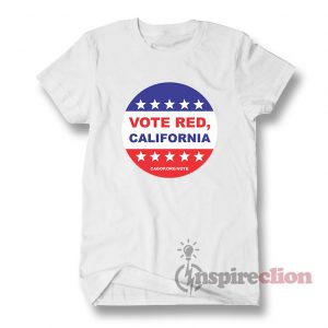 California Propositions Vote Red Hook T-Shirt Unisex