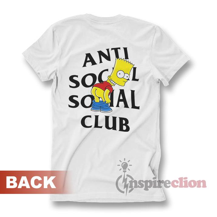 94521fba40a1 Anti Social Social Club x Bart Mooning Parody T-shirt - Inspireclion.com