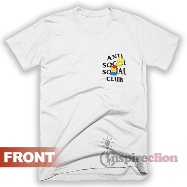Anti Social Social Club x Bart Mooning Parody T-shirt
