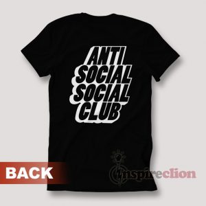 Anti Social Social Club Black Blocked Logo T-shirt