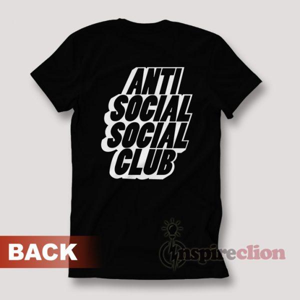 Anti Social Social Club Black Blocked Logo T-shirt