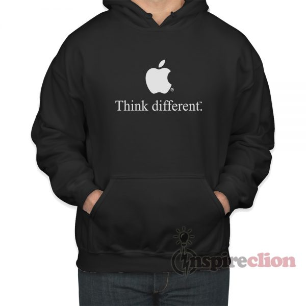 Aplle Logo Think Different Quotes Hoodie
