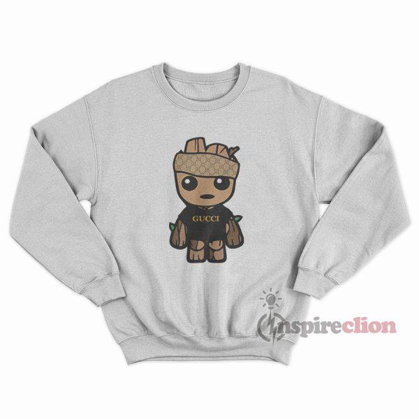 Toddler Babby Groot Gucci Monogram Logo Sweatshirt