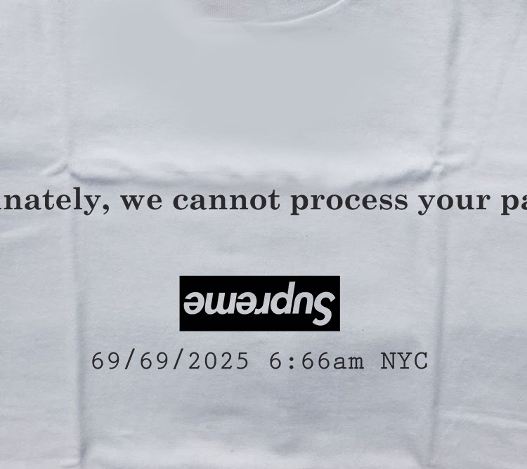 8159f592a028c9 Supreme Cannot Process Your Payment Parody T-Shirt- Inspireclion.com
