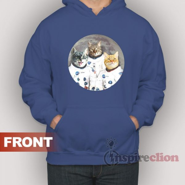 Catstronauts Cat Kennedy Space Center Hoodie