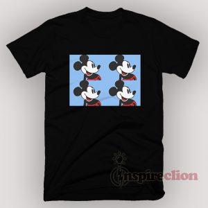 Disney Mickey Mouse Light Blue Vintage 90s Funny T-shirt