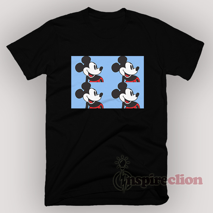 Disney Mickey Mouse Light Blue Vintage 90s Funny T-shirt Unisex