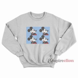 Disney Mickey Mouse Light Blue Vintage 90s Sweatshirt