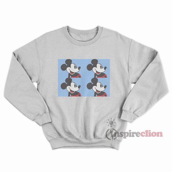 Disney Mickey Mouse Light Blue Vintage 90s Sweatshirt