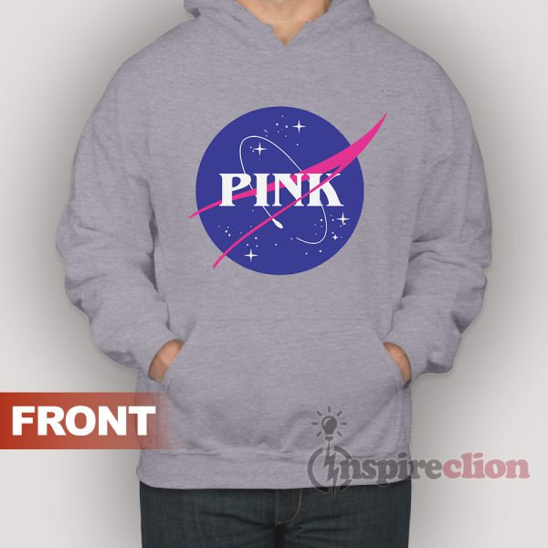 PINK Space Center NASA Hoodie For Women's Or Men's