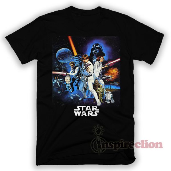 Star Wars Vintage Movie Poster T-shirt Cheap Custom