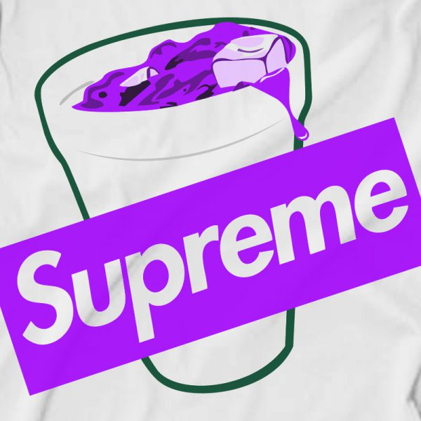 Supreme Purple Lean Codiene Box Logo Sweatshirt