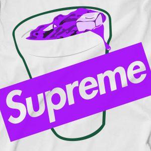 Supreme Purple Lean Codiene Box Logo T-Shirt
