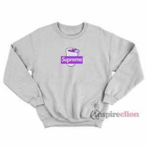 Supreme Purple Lean Codiene Box Logo Sweatshirt