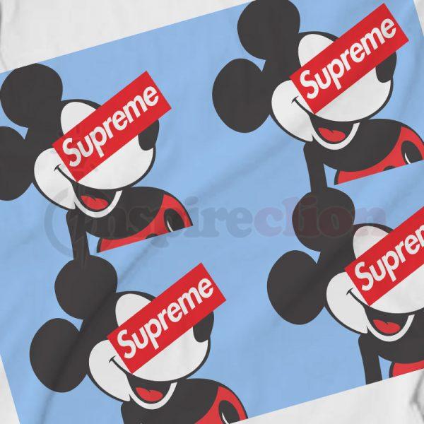 Supreme Vintage Mickey 90s Logo Hoodie Unisex