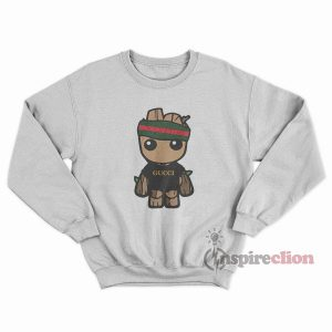 Toddler Groot GC Supreme Green Red Striped Sweatshirt