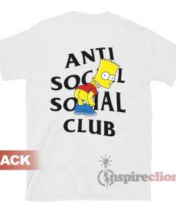 Anti Social Social Club x Bart Mooning Parody T-shir