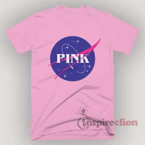 Pink Logo Space Center Nasa T-shirt