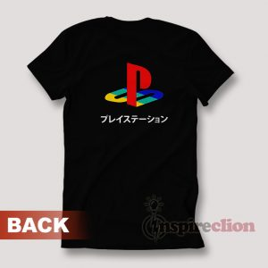 Sony Playstation Logo Japanese T-shirt Custom