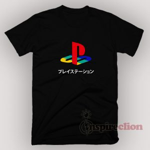 Sony Playstation Logo Japanese T-shirt Custom