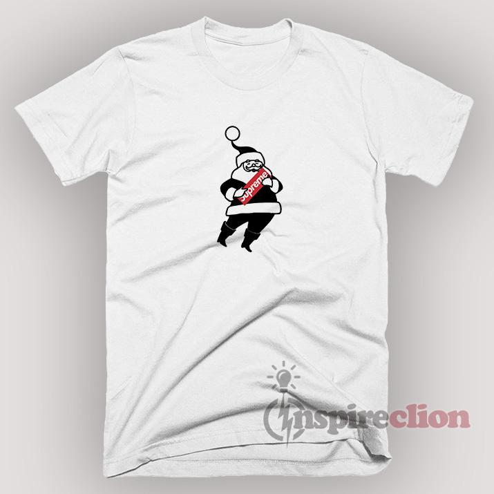 b938cc4207af Santa Claus Christmas XMAS with the Supreme T-Shirt - Inspireclion.com