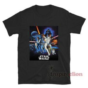 Star Wars Vintage Movie Poster T-shirt Cheap Custom